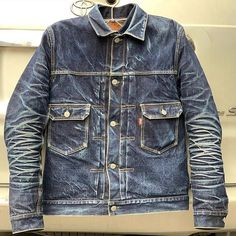 Workwear Fashion, Fashion Wear, Denim Fashion, Fashion Outfits, Raw Denim, Men's Denim, Denim Style, Levi Denim Jacket, Denim Boots