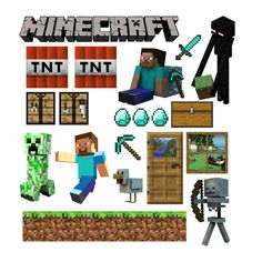 CUSTOM HALF SIZED Minecraft Decal Collection Two by WilsonGraphics