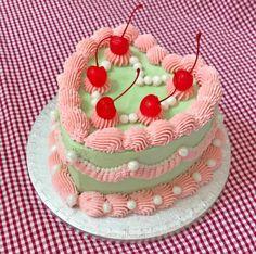 Pretty Birthday Cakes, Pretty Cakes, Happy Birthday, Cake Birthday, Bolo Da Hello Kitty, Pastel Cakes, Frog Cakes, Dream Cake, Cute Desserts