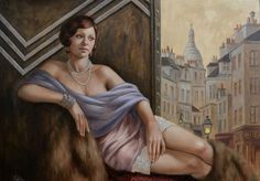 STUDY FOR TOWARD MONTMARTRE - Catherine Abel.