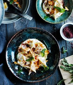 Lamb manti with yoghurt, sumac and dried mint recipe | Turkish dumpling recipe - Gourmet Traveller