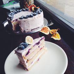 Osviežujúca čučoriedkovo-citrónová torta