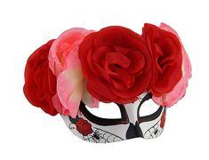 Black Day Of The Dead Sugar Skull Mask Adult OSFM NIP