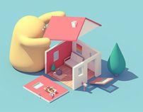 House & Monster