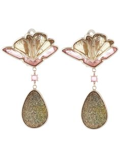 Stephen Dweck Pink Watermelon Tourmaline Earrings