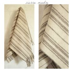 SIERRA MADRE 100% Pure Virgin Wool Minimal Mexican Blanket/Throw/Sarape/Poncho. $70.00, via Etsy.