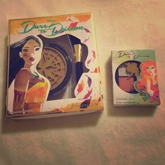 Disney Dare to Dream Makeup Combo Adorable Ariel eyeshadow quad and Pocahontas bronzer and brush set, Dare to Dream makeup combo. Both have been swatched once and come in original packaging. The brush that came with the bronzer has never been used. Great addition to any Disney lover's collection. Makeup