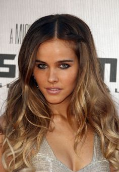 Isabel Lucas (Beautiful ombre and loose curls; Gorgeously applied bronzer and light smokey eyes with understated lip)