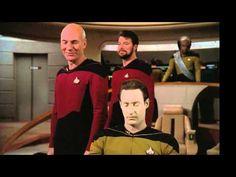 Star Trek gag reel. Worf bloopers for the win!