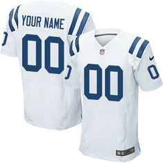 Nike Elite White Men's Jersey - Customized Indianapolis Colts NFL Road