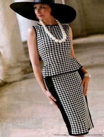 DIY home projects Russian pattern ebook Elegant crochet women wear Checkered Outfit, Chanel Style Jacket, Casual Dresses, Fashion Dresses, Look Fashion, Womens Fashion, Handmade Skirts, Stylish Tops, Business Outfits