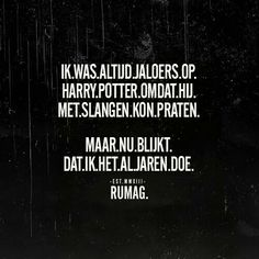 Rumag met Harry Potter