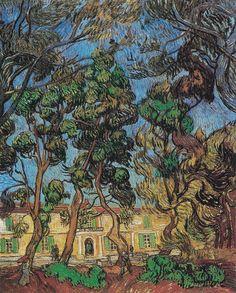 Hospital at Saint-Rémy, 1889 by Vincent van Gogh