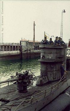 German Type VII-B U-boat U-47 commanded by submarine ace Gunther Prien.