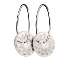 Scherning Bloom øreringe, Sølv
