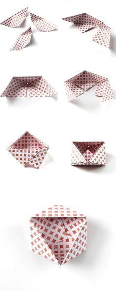 How to make DIY Origami geometric bowls