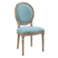 Product Image For Shiraz Linen Oval Back Dining Chairs (Set Of 2) 1 Out