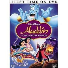 aladdin dvd 2-disc set special platinum edition walt disney robin williams rare from $12.99
