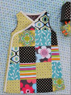 Patchwork baby sack using AMH pattern-  great inspiration for a dress for the girlies