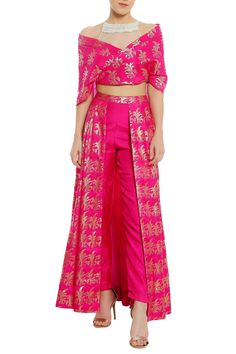 Buy Sheer net embroidered yoke blouse with lehenga by Masaba at Aza FashionsYou can find Western dresses and. Indian Attire, Indian Outfits, Stylish Dresses, Women's Fashion Dresses, Unique Dresses, Elegant Dresses, Indian Gowns Dresses, Girls Dresses, Indian Designer Suits