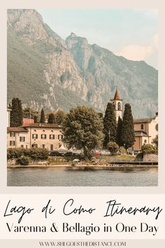 Visit dreamy Lake Como on your Italy trip with the best tips for seeing it's two best towns, Varenna and Bellagio! Lago di Como is full of Italian charm and luxury surrounded by soaring mountains. Discover how to plan your trip to Lake Como, how to see Varenna and Bellagio in one day, and suggestions for what to do in this ultimate guide to Lake Como!