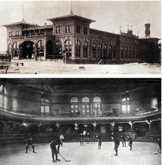 Pittsburgh, Pennsylvania - May 29, 1895: The first artificial-ice arena in the world, the Schenley Park Casino, home to hockey's Pittsburgh Keystones, opens its doors.
