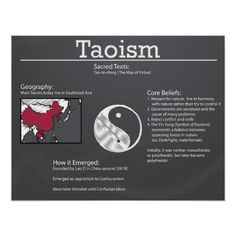 Taoism was one of the biggest belief systems in Ancient China, and still is.