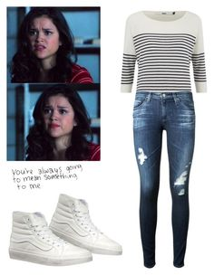 """Hayden Romero - tw / teen wolf"" by shadyannon ❤ liked on Polyvore featuring ONLY, Vans and AG Adriano Goldschmied"