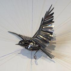 "Browse airtightartwork's instagram image ""New Heights"" #airtightartwork #art #bird #flight #flying #utensils #upcycle #chsart #charleston #metalart #metalsculpt 1052442499341965100_1054979948 • Copysta"