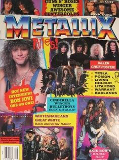 Bon Jovi 80s, Jon Bon Jovi, Lita Ford, Metal Magazine, Skyrim, Heavy Metal, True Love, Magazine Covers, Rock
