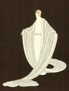 """Purity"" (modified) by Erte (ca. : ""Purity"" (modified) by Erte (ca. Romain de Tirtoff Russian born French artist & Art Deco costume designer known by the pseudonym Erte (French pronunciation of R.) by Plum leaves (in), via Arte Art Deco, Moda Art Deco, Art Deco Artists, Estilo Art Deco, Art Deco Paintings, Art Deco Illustration, Belle Epoque, Erte Art, Romain De Tirtoff"