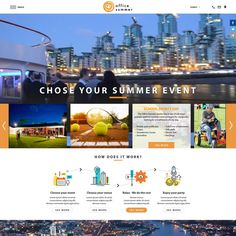 design a corporate summer event website and logo by Designer SE15