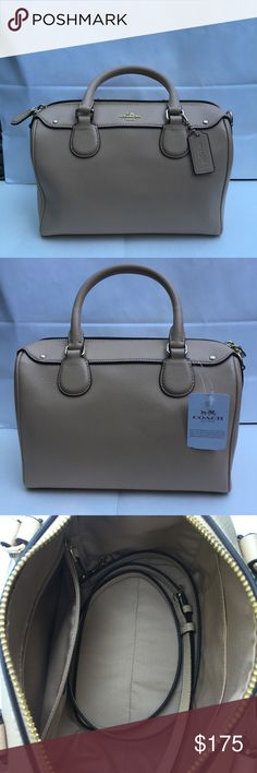 Coach Leather Mini Satchel Brand new with tags Coach Crossgrain Leather Mini Satchel in beechwood. Features removable and adjustable strap. Coach Bags Satchels