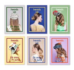 Heads Up – A marketing campaign to promote the hat department at Liberty Poster Layout, Print Layout, Magazine Layout Design, Graphic Design Posters, Grafik Design, Layout Inspiration, Banner Design, Editorial Design, Retro