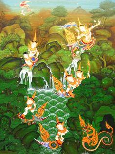 Thai Silk Paintings | ... Paintings, Thai Buddha Images, Thai Silk, Thai Wood Carvings, Thai Art