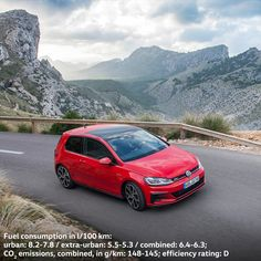 Enjoy the power of the Volkswagen Golf GTI just as much you enjoy the breathtaking beauty of a mountain panorama.