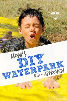 Mom's DIY water park for kids is the most awesome way to create summer fun memories for your kiddos! Get ready for some splish, splashy fun! @alicanwrite