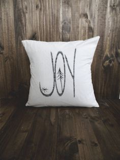 Joy 16 x 16 Christmas Pillow Cover seasonal by ParrisChicBoutique, $20.00