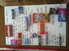DIY candy board Dear Future Husband (: