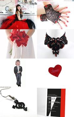 Black and Red Wedding ideas #goth wedding ... Wedding ideas for brides & bridesmaids, grooms & groomsmen, parents & planners ... https://itunes.apple.com/us/app/the-gold-wedding-planner/id498112599?ls=1=8 … plus how to organise an entire wedding, without overspending ♥ The Gold Wedding Planner iPhone App ♥