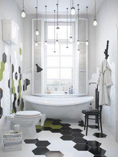 crazy tiled bathroom