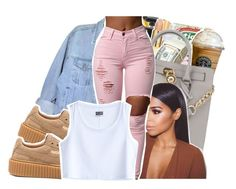 """""""Yeah they hate but they broke though"""" by ayeeitsdessa ❤ liked on Polyvore featuring Puma and MTWTFSS Weekday"""