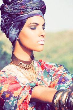 http://abayatrade.com muslim fashion magazine  Turban style.. #turban