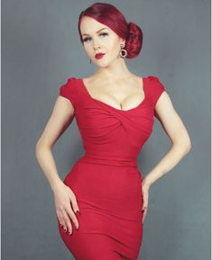 Stop Staring Billion Dollar Baby Dress in Red ⋆ Stop Staring Europe Dresses For Big Bust, Formal Dresses, Stop Staring Dresses, Good Stretches, Vintage Style Dresses, Baby Dress, Lady In Red, Fashion Dresses, Vintage Fashion