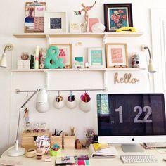 Mis mil y un | Blog de belleza y bonitismo: 8 RINCONES de trabajo (o escritorios) tan bonitos que...