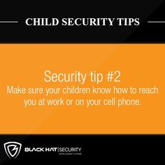 Child Security Tips . Make sure your children know how to reach you at work or on your cell phone. Security Tips, Safety And Security, Home Security Systems, You At Work, Home Safes, Family Outing, Home And Family, Instagram Posts, Hat