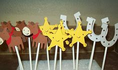 Cowboy Cupcake Toppers/Cake Toppers by CardCraftersCorner on Etsy, $10.00