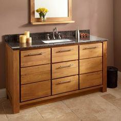 "60"" Venica Teak Vanity for Rectangular Undermount Sink"