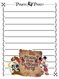 Journal Card - Disney Cruise Line Pirate Party - lines - 3x4 photo dis_152_DCL_pirate_party_lines.jpg