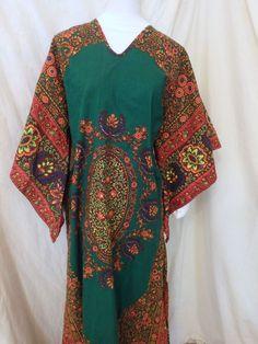 VINTAGE Paranda KIMONO DASHIKI Long Dress Hippy Ethnic Festival Sz s-m Cotton #ParandaTalkoftheTown #Shift #Casual